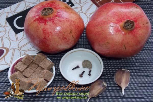 Ингредиенты для гранатового соуса наршараб