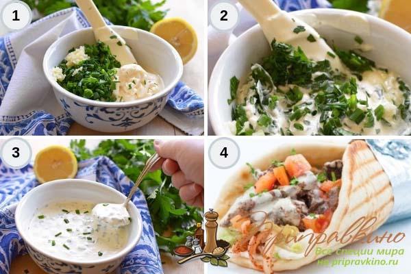 Простой рецепт с фото чесночного соуса для шаурмы