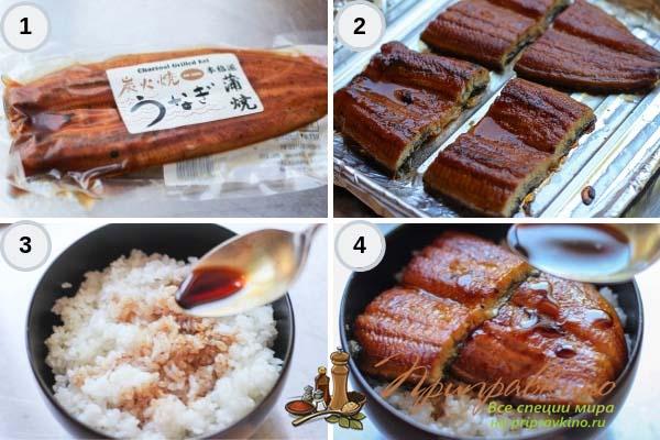 Пошаговый фото-рецепт приготовления угря в соусе унаги