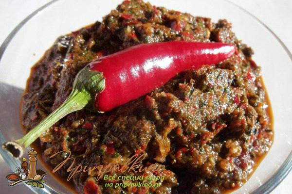 Красная абхазская аджика
