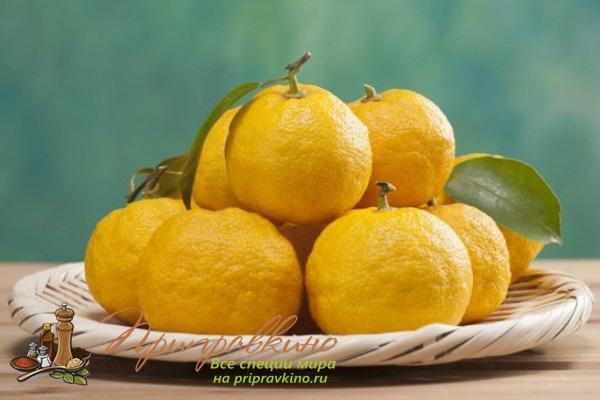 Цитрусовый фрукт юдзу